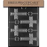 Dress My Cupcake Chocolate Candy Mold, Cross Lollipop