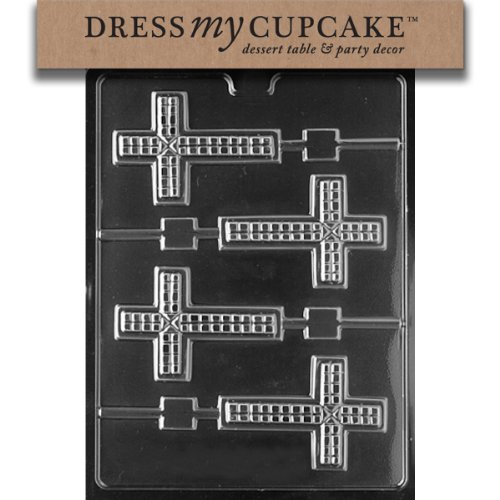 - Dress My Cupcake Chocolate Candy Mold, Cross Lollipop
