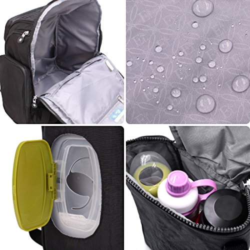d7fb367c0056c Diaper Bag Backpack Baby Changing Pad Lightweight Large Nappy Travel  Backpack Premium Oxford with Stroller Straps