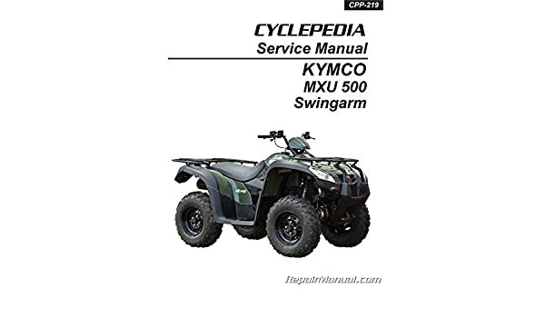 CPP-219-Print KYMCO MXU 500 ATV Swingarm Solid Rear Axle