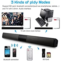 FidgetFidget Wireless Home Theater Sound 20W TV Speaker Soundbar Bluetooth Bar Remote Control