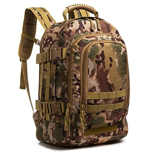 WolfWarriorX 3-Day Expandable Backpack Military Backpack Molle Assault Bag Hiking Bag Large...