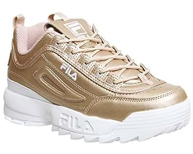 Fila Mujer Metallic Rose Dorado Disruptor II Premium Zapatillas-UK 8: Amazon.es: Zapatos y complementos