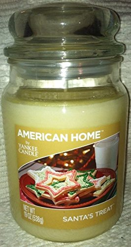American Home by Yankee Candle 19 oz Santa's Treat Candle in a Jar with Lid