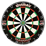 Winmau Diamond Plus Tournament Bristle Dartboard Staple-Free Bullseye Higher Scores Fewer Bounce-Outs