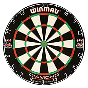 Tournament dartboard with four colors throughout