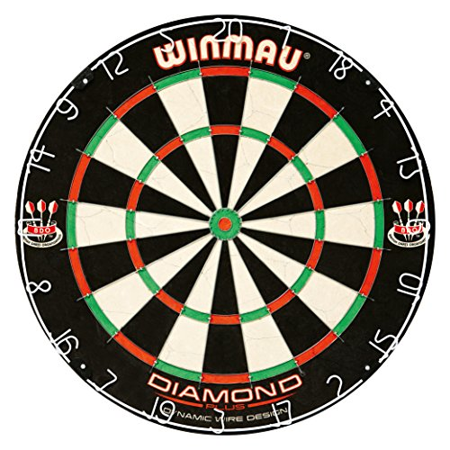 Best Price! Winmau Diamond Plus Tournament Bristle Dartboard with Staple-Free Bullseye for Higher Sc...