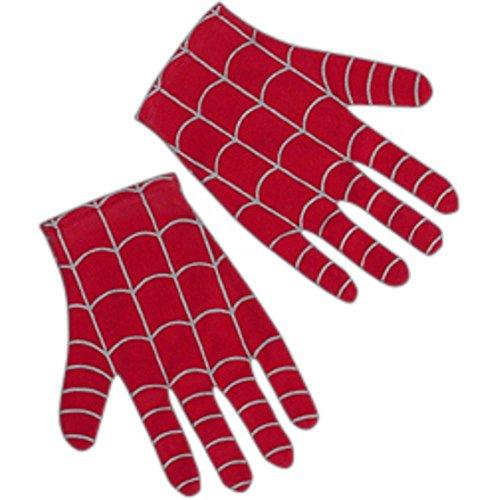 Child Spider Man Gloves-Red-Black