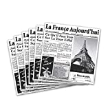 G.E.T. Enterprises White Newspaper Theme Cone Basket Liner / Deli Wrap Paper Paper Food-Safe Tissue Liners Collection 4-T3050 (Pack of 2000)