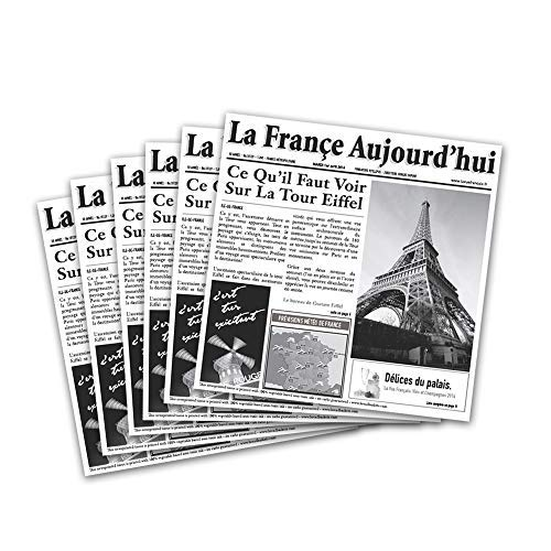 French Tissue - G.E.T. Enterprises White Newspaper Theme Cone Basket Liner / Deli Wrap Paper Paper Food-Safe Tissue Liners Collection 4-T3050 (Pack of 2000)