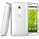 Motorola Moto X Play Case, [Invisible Armor] Crystal Clear, Ultra Slim, Soft Resilient, Lightweight Rubber Bumper Case| Back Cove -Thinnest Case Ever.
