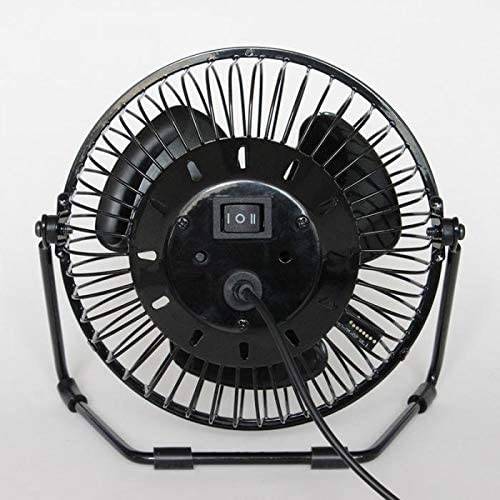 Vaorwne New USB Led Clock Fan with Real Time Temperature Display Desktop 360 Cooling Fans for Home Office