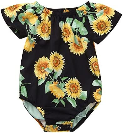 SHITOU Baby Boys Girls Solid Button Romper Bodysuit Jumpsuit Casaul Clothes
