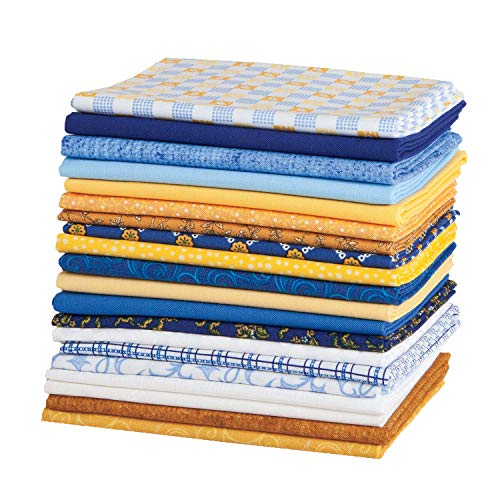 (Connecting Threads Stashbuilder Precut Quilting Fabric Fat Quarter Bundle (Lattice & Swirls))
