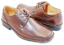Men's Oxford Dress Shoes by Majestic . Brown