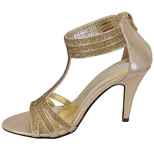 Mariage or Sandal à D'Honneur Femmes Bout House Sandales Noces sh1608 Femmes Aiguille Ouvert Demoiselle Talon Diamant pr7xpwq6