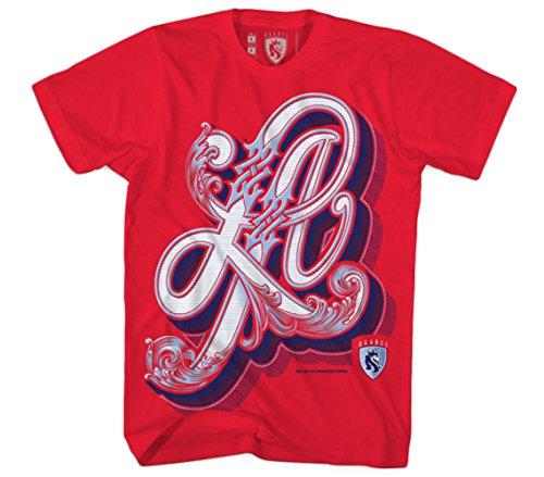 OGABEL Men's LA Classic SS T Shirt Red
