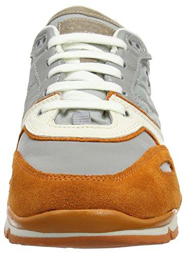 B a Orange Gris para Hombre Sandford Grey U ABX Zapatillas Geox qZSfgEIxn