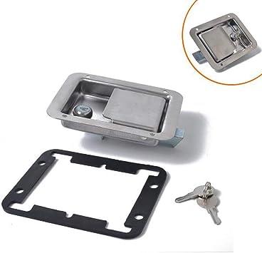 Remolque de acero Inoxidable RV Travel Lock Antirrobo Cerradura de caja de Herramientas de Puerta de Paleta: Amazon.es: Coche y moto