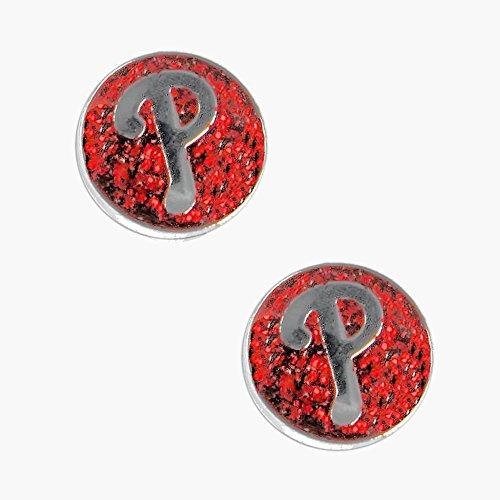 Philadelphia Phillies Logo Pendant - South Carolina Gamecocks Swirl Heart Dangle Logo Necklace and Earring Set Charm Pendant Gift NCAA