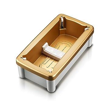 Automático Cubrezapatos Dispensador,100 Zapato Cubrezapatos Desechables,Cubierta de Zapato Inteligente,Dimensiones 40 * 22 * 13cm , golden: Amazon.es: ...