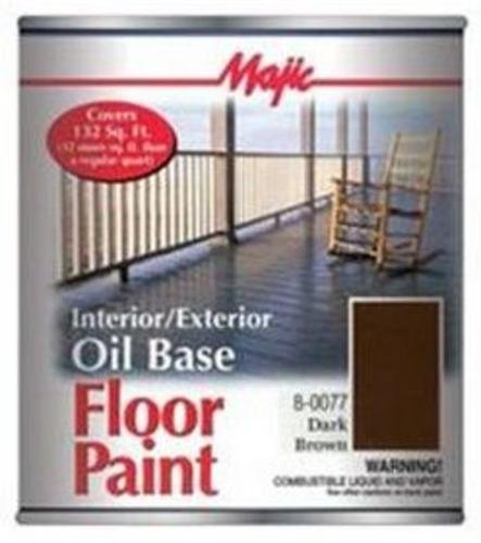 YENKIN MAJESTIC PAINT DRK BRWN in/EX OB 8-0077-2 0077-2 Dark Brown Interior/Exterior Oil Base FLR Q, 525 sq-ft/gal,