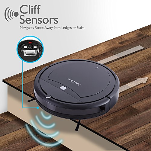 PureClean Robot Vacuum Cleaner with Programmable Scheduled Activation & Automatic Charge Dock - Robotic Auto Home Cleaning for Clean Carpet Hardwood Floor, HEPA Pet Hair & Allergies Friendly - PUCRC99 by PureClean (Image #3)