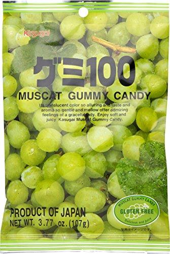Kasugai Gummy Candy Muscat, 3.77 oz (Pack of 3)