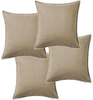 Funda de cojín color gris IKEA Gurli 50 cm x 50 cm., Gris ...