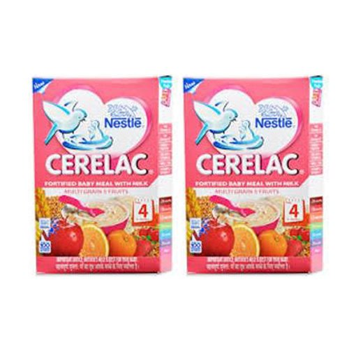 2 x Nestle Cerelac Multi Grain 5 Fruits - Stage 4 - 12 Months + (300 g x 2).