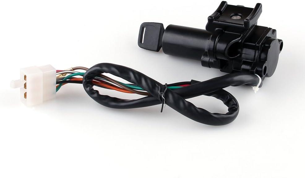 Interrupteur De Verrouillage Carburant Essence Ignition Key pour KA-WA-SA-KI ZZR 400 600 ZXR 400 750 Artudatech Moto Cl/é de Contact avec Bouchon de R/éservoir