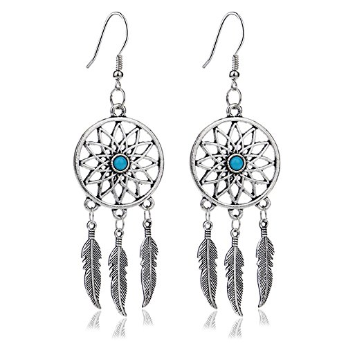 Liavy's Dream Catcher Fashionable Earrings - Fish Hook - Style A