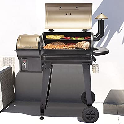 """Cuisinart CPG-4000 Wood BBQ Grill & Smoker Pellet Grill and Smoker, 45"""" x 49"""" x 39.4"""" Black"""