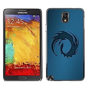 GagaDesign Phone Accessories: Hard Case Cover for Samsung Galaxy Note 3 - Blue Tribal Dragon by mcsharks