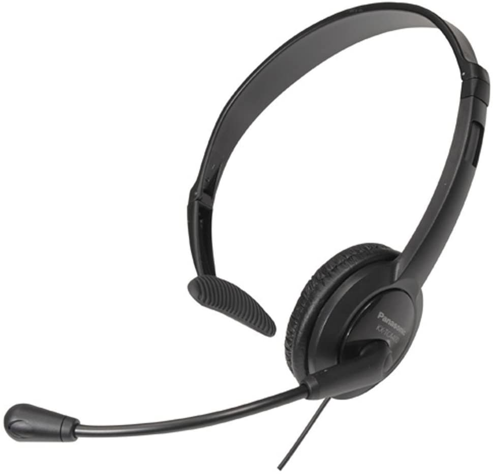 Panasonic RP-TCA400E-K - Auriculares de Diadema Cerrados de Tipo Mono con Micrófono para Conectar con Telefonía, Color Negro (Versión Importada)