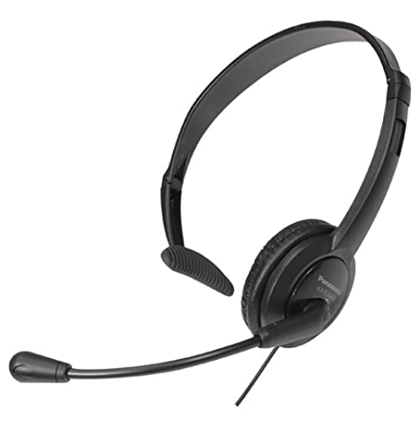 Panasonic Headset - Auriculares de diadema cerrados de tipo mono, color negro