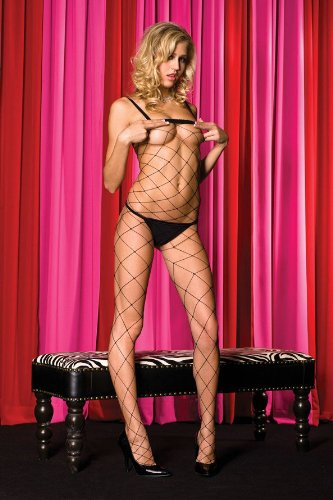 ff584c678 Music Legs Women s Spandex Big Diamond Net Bodystocking