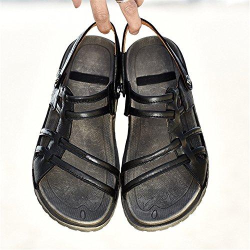 Casual 0 Sandali Casual Scarpe Leggeri Uomo pantofole Da Traspiranti CM Wagsiyi da spiaggia 27 Da 24 Scarpe Nero Spiaggia Nere Sandali 0 FU6wqX
