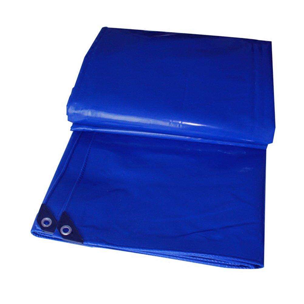 A 4x4M AJZGF Tissu imperméable à l'eau imperméable BÂche imperméable à l'eau, bÂche de Prougeection extérieure de bÂche de Pare-Brise Anti-poussière étanche au Vent antioxydant, Bleu