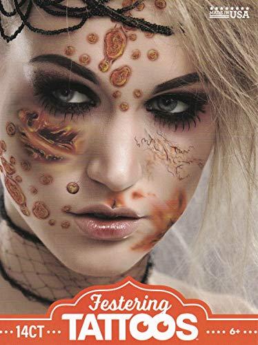 Baseball Player Halloween Costume Makeup (Halloween Realistic Temporary Costume Make Up Face Tattoo Kit Men or Women Adult -)