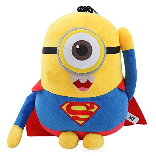 [20 CM, (Superman) Mini Minions Cosplay Anime Plush Doll] (Gru Dog Costume)