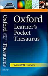 Oxford Learner's Pocket Thesaurus Oxford Learners Pocket
