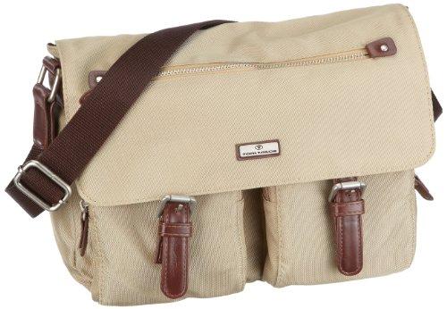 Tom Tailor Acc RINA Überschlagtasche, beige 11222 20 - Bolso de hombro de nailon para mujer Beige