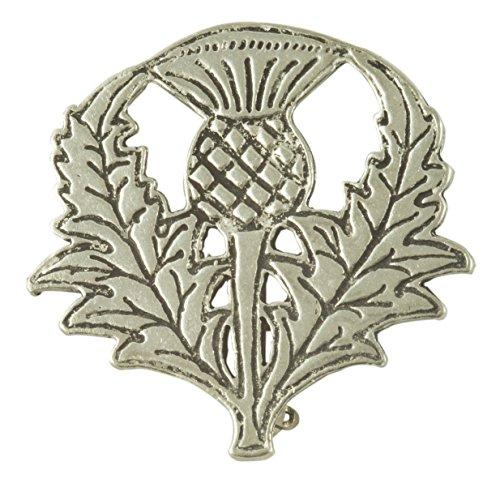 Scottish Thistle Pewter Pin (Revolutionary War Reenactment Costumes)