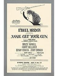 """Ethel Merman """"ANNIE GET YOUR GUN"""" Al Hirschfeld / Irving Berlin 1966 Toronto Tryout Flyer"""