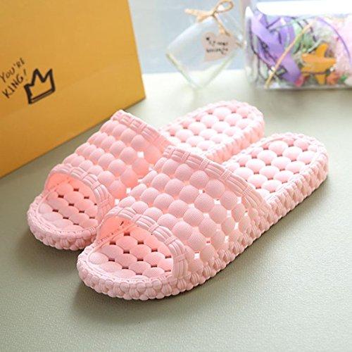 Pocartz Unisex Indoor Casa Bagno Doccia Pantofola Antiscivolo Scarpe Da Massaggio Sandalo Spa Famiglia Rosa