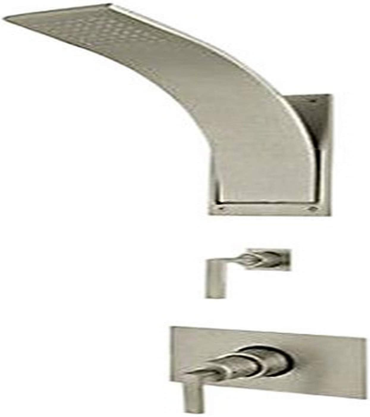 Satin Nickel Rohl WAVEKIT36L-STN Wave Thermostatic Shower Package with Lever Handles Includes Wa191L Wa31L /& Wa1319
