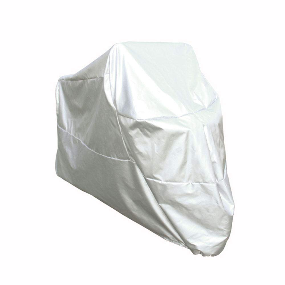 Motorcycle Covers for Outside Storage, 210d Oxford Cloth Silver, Electric Car Clothing, Rain, Sun Protection, Dustproof, Camouflage, Anti-Theft Lock Hole, Four Seasons Universal,Silver-M