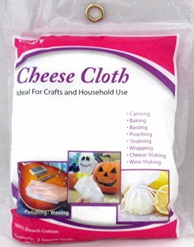 1 X Cheese Cloth, 100% Bleached Cotton, 2 SQ. Yards, NEW Allary 131792
