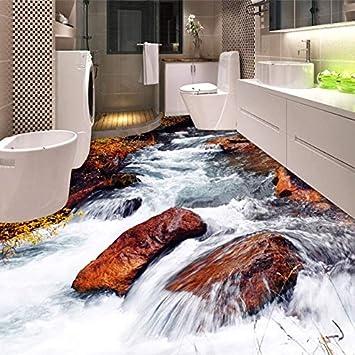 Benutzerdefinierte 3d Boden Tapete Badezimmer Wc Schlafzimmer Pvc